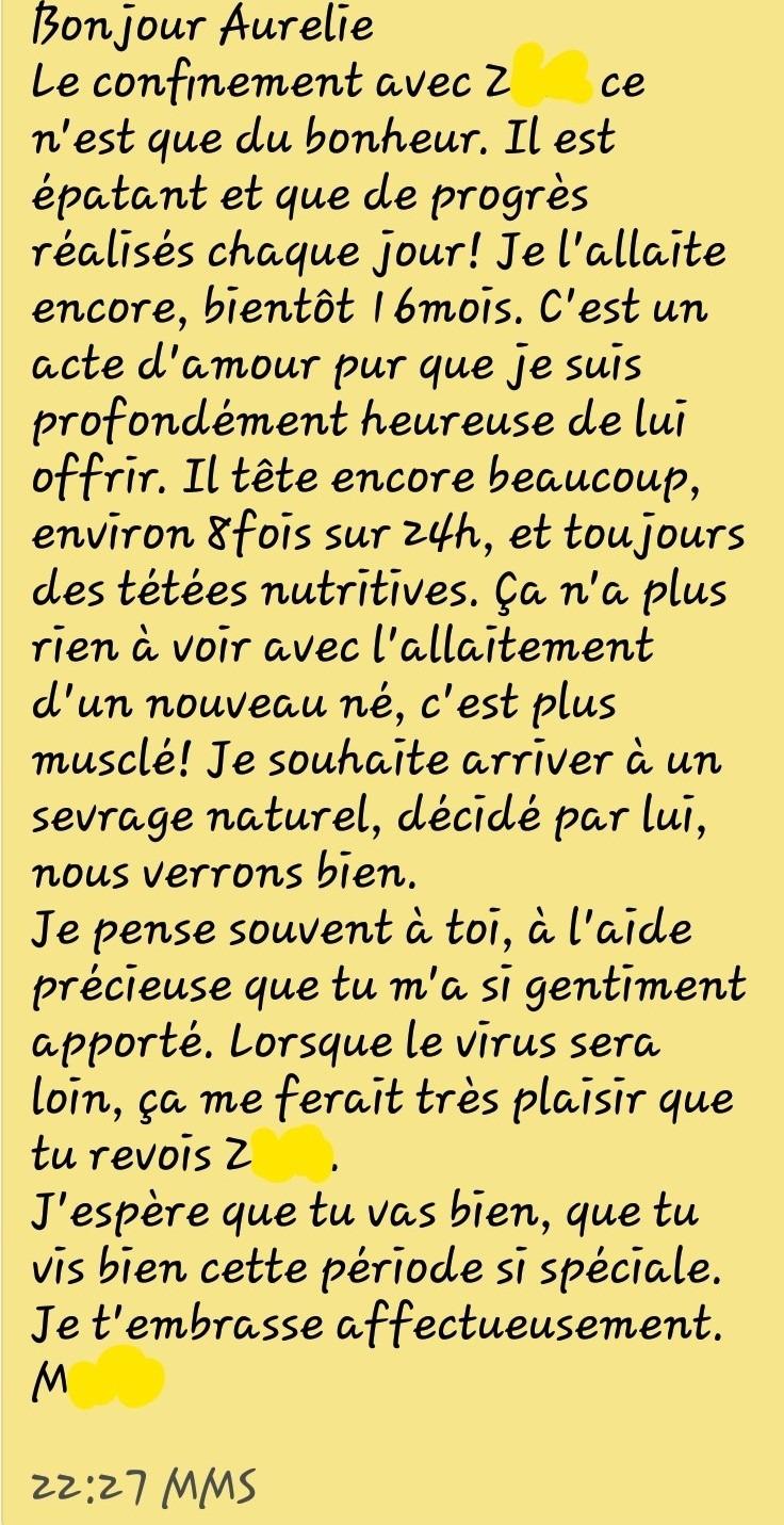 Message de Marie 29 04 20